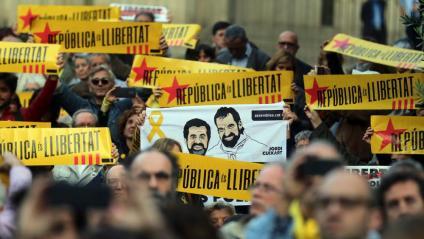 Un acte en record de Jordi Cuixart i Jordi Sànchez a Barcelona