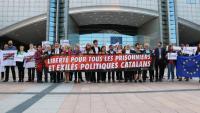 Els eurodiputats reclamant la llibertat a Brusel·les
