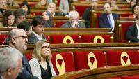 Parlament de Catalunya amb escons buits