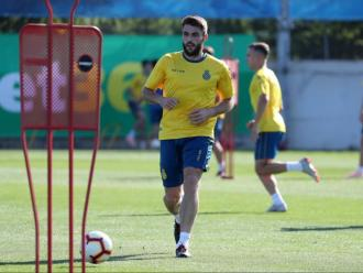 David López en una sessió a d'entrenament.