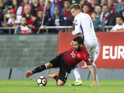 Arda Turan amb la selecció turca