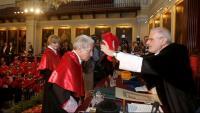 El jutge Pascual Sala l'any 2014 quan va ser investit honoris causa per la Universitat de València