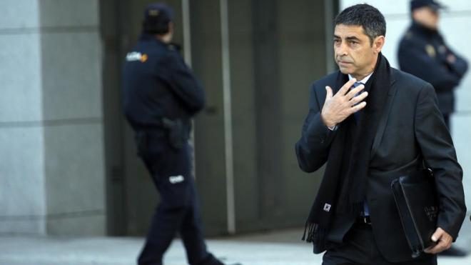 Josep Lluís Trapero a l'Audiència Nacional, el 16 d'abril del 2018