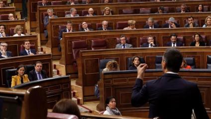 Pedro Sánchez durant la sessió de control al Congrés