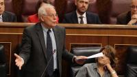 El ministre d'Exteriors, Josep Borrell, aquest matí al Congrés