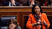Margarita Robles, ministra de Defensa, en una sessió al Congrés