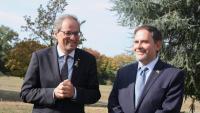 El president de la Generalitat, Quim Torra,a Ginebra