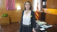 La consellera de Justícia, Ester Capella, al seu despatx