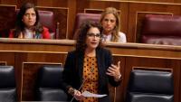La ministra d'Hisenda, María Jesús Montero, al Congrés