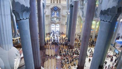 Imatge de l'interior del temple