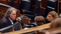Joan Tardà amb Meritxell Batet ahir dimecres al Congrés dels Diputats