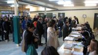 Jornada electoral al col·legi Verd, de Girona, durant les eleccions del 21 de desembre passat