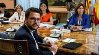 El vicepresident Pere Aragonès en una de les reunions prèvies amb membres del govern espanyol