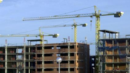 Construcció d'uns habitatges a Madrid