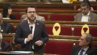 El vicepresident del Govern, Pere Aragonès, en una imatge d'arxiu al Parlament