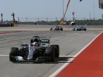 Hamilton creua la meta vencedor a Austin, l'any passat