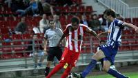 Ramalho , a punt de centrar, durant l'eliminatòria de fa cinc anys entre el Girona i l'Alavés, amb triomf dels blanc-i-vermells en la tanda de penals