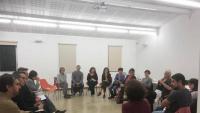 La presentació i el debat de propostes es va dur a terme al segon pis de l'Ateneu
