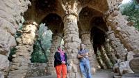 Carme Grandas i Marc Aureli Santos, al Park Güell
