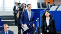 El primer ministre polonès, Mateusz Morawiecki , moments abans del seu discurs a Estrasburg, al juliol