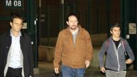Pablo Iglesias a la sortida de Lledoners, divendres