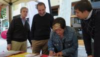 Ramon Espadaler durant la Mostra de Comerç al Carrer i Gastronòmica de Sarrià