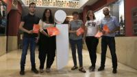 Presentació del diari 'Jornada' a València, amb la directora Laia Altarriba al centre