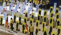 Uns dos-cents cinquanta voluntaris s'han mobilitzat per aquesta nova acció a les ribes del riu Onyar a Girona