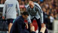 Leo Messi, atès pel doctor Daniel Florit a la banda en una primera exploració