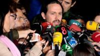 El líder de Podem ,  divendres, a la sortida de Lledoners