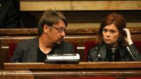 Xavier Domènech i Elisenda Alamany, en un ple a l'abril passat