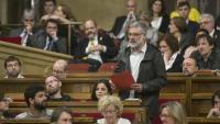 Carles Riera i els altres dos diputats de la CUP, al Parlament