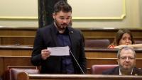 El diputat d'ERC, Gabriel Rufián, al Congrés dels Diputats