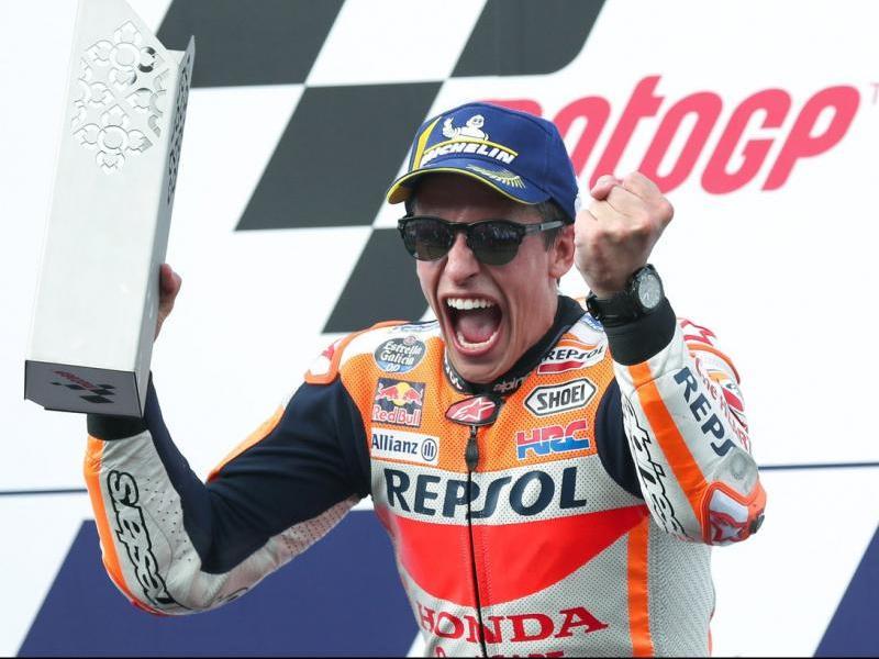 Márquez celebra la victòria a Tailàndia, fa quinze dies