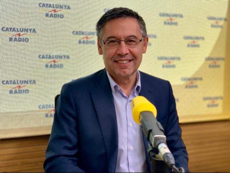 Josep Maria Bartomeu, durant l'entrevista a Catalunya Ràdio