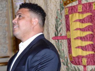 Ronaldo Nazario en un acte dut a terme a l'ajuntament de Valladolid