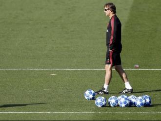 Julen Lopetegui, durant l'entrenament del Madrid