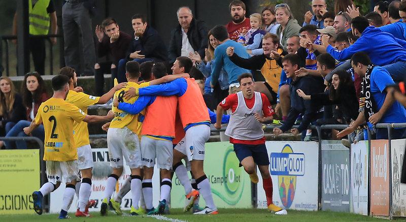 Els jugadors del Lleida celebren el gol de Juanto 03e21ea5208f4