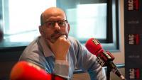 Jordi Basté, fotografiat als estudis de RAC1 a la Diagonal de Barcelona