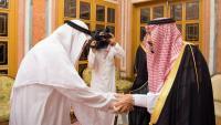 El rei saudita, Salman bin Abdulaziz, rebent un familiar de Khashoggi, ahir a Riad