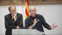 El president Torra i l'exdiputat Lluís Llach presenten el nou òrgan al Palau de la Generalitat