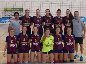 La plantilla del CVB Barça e n una imatge de l'inici del curs