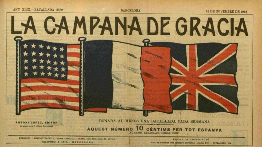 """Portada del diari satíric """"La Campana de Gràcia"""""""