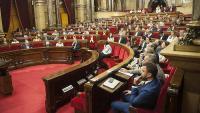 L'hemicicle del Parlament, durant un ple recent