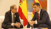 Torra i Sánchez en una imatge d'arxiu de la darrera reunió celebrada A Madrid
