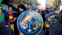 Imatge de la darrera manifestació de Jusapol a Barcelona