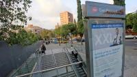 L'estació de metro de Can Peixauet, a Santa Coloma, ahir