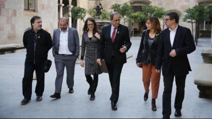 Torra rebia al Palau de la Generalitat els cinc síndics electorals de l'1-O