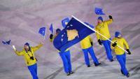 Els esportistes kosovars desfilant en els últims jocs d'hivern