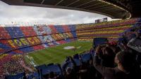 Una imatge del Camp Nou en un partit contra el Real Madrid